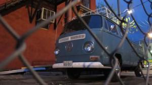 A Volkswagen Bus/Pick-up.