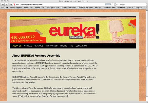 Eureka! Web Site